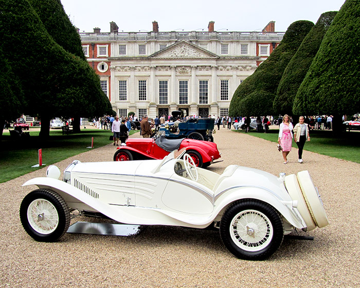 A legendary show car, the 1931 Alfa Romeo 6C 1750 Touring -- Flying Star -- takes Best in Show with the Pullman Trophy.
