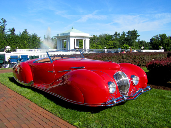 The Hotel Hershey Award went to this 1947 Delahaye 135-M.