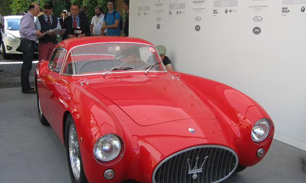 Friday check-in. The Trofeo Auto & Design prize for the most exciting design will go to this 1953 Maserati, A6GCS, Berlinetta, Pinin Farina.