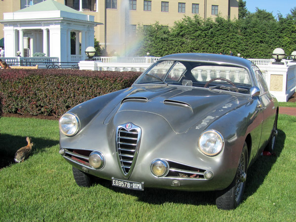 Renound Italian Alfa collector, Corrado Lopresto, sent this 1954 Alfa Romeo 1900 SSZ Berlinetta by Zagato to The Elegance.