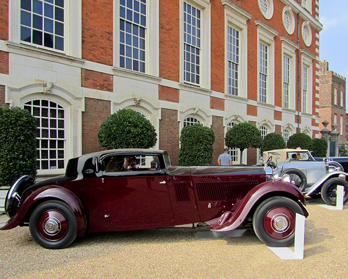 The William & Son Award for the Most Elegant British Motor Car went to this 1933 Rolls-Royce Phantom II Continental Freestone and Webb Coupe