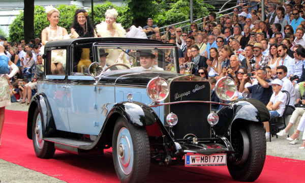 For the best overall appearance of car, driver and passenger by the Jury, the Trofeo Roeckl prize went to the 1922 Hispano Suiza, H6 B, Sedanca Landaulette, Chapron and owner Alexandre Schaufler.