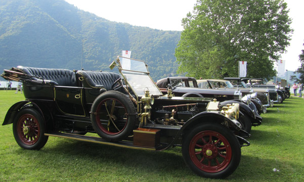The Trofeo FIVA award went to the best preserved pre-war car, the 1908 Rolls-Royce, Silver Ghost, Roi des Belges, Barker.