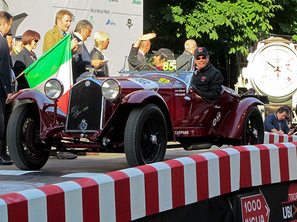 American co-driver Mark Gessler, president of the Heritage Vehicle Association, in an original Mille Miglia Alfa Romeo 6C 1500 GS Zagato accompanies Manuel Elicabe to a stellar 11th place finish!