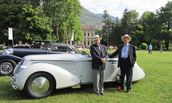 For the most sensitive restoration, the Trofeo BMW Classic prize went to the 1936 Lancia, Astura Type 233, Cabriolet, Pinin Farina and owner Orin Smith with restorer Richard Gorman at his side.