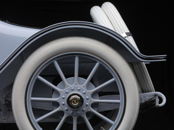 Michael Furman photograph of a 1914 American Model 642 rear wheel