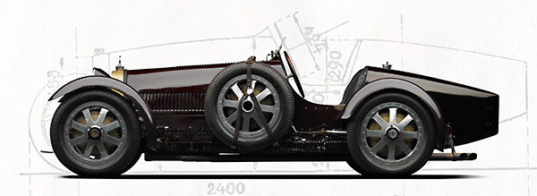 Michael Furman photography. Side view of a Bugatti Type 35