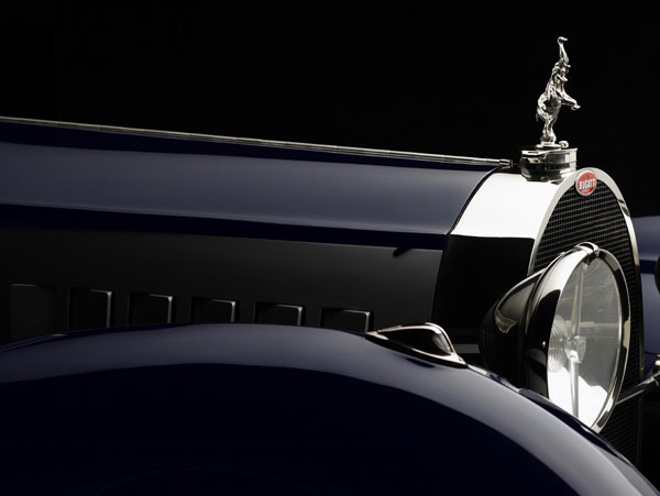 Michael Furman image of the hood and mascot of a 1932 Bugatti Royale Type-41