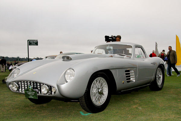 John Shirley's 1954 Scaglietti bodied 375 Ferrari Coupe won the Pebble Beach Concours d'Elegance and became the first post war car to win Pebble Beach since 1968.