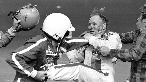 Cale Yarborough and Bobby Allison fight