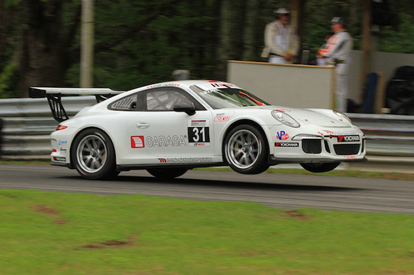 Catching air at Lime Rock. Photo by Dom Miliano