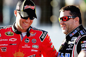 Harvick and Tony Stewart
