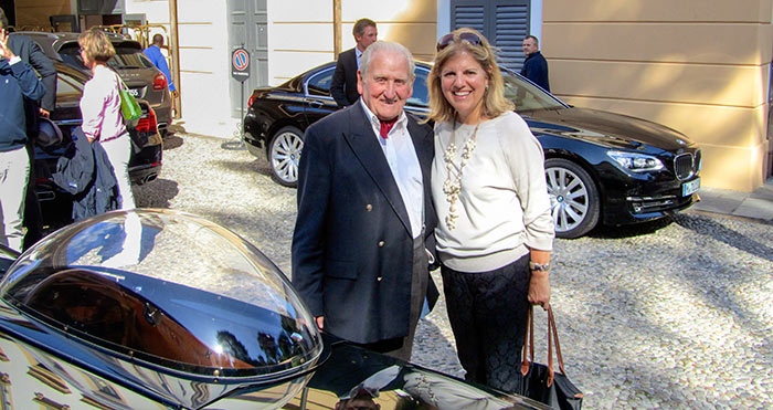Sandy Cotterman and Norman Dewis, OBE