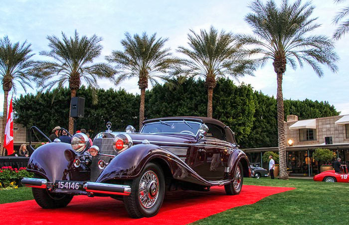 Winner of the Arizona Concours, the 1937 Mercedes-Benz 540 K Sport Cabriolet.