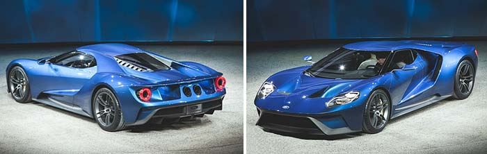 The New Ford GT, two views