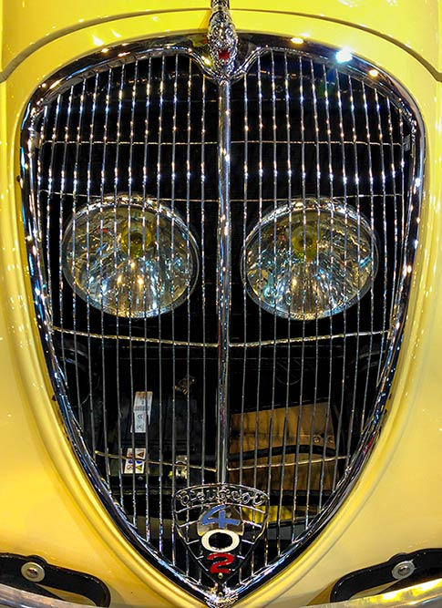 Retromobile, Peugeot Grill, by Larry Carlson