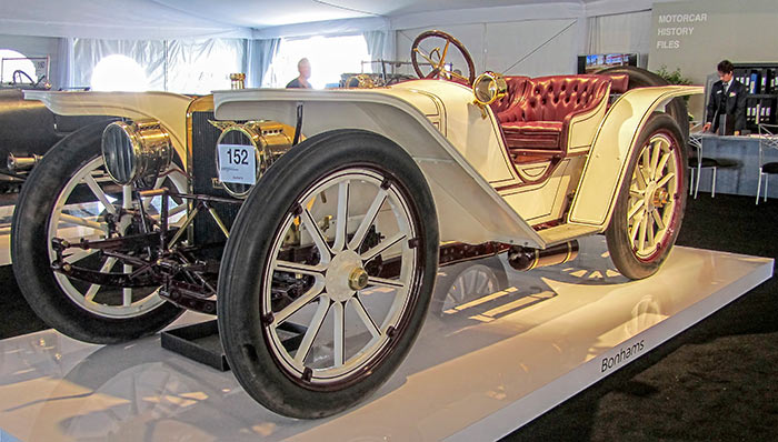 1908 American Underslung 50HP Roadster, by Sandy Cotterman, Amelia Island Concours