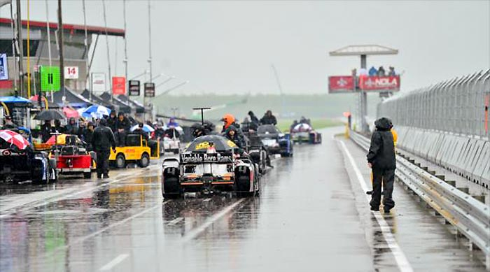 Rainy Pit Lane at IndyCar in New Orleans