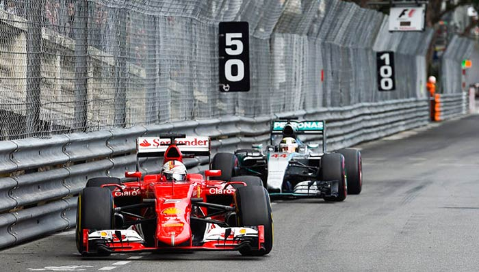 Lewis trails at F1 Monaco