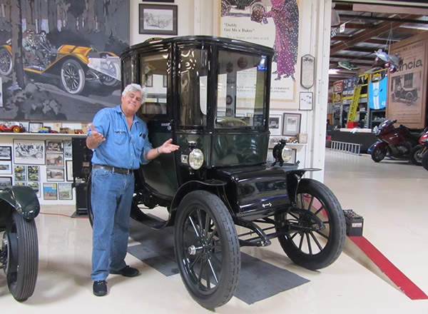 The real Jay Leno in his garage!