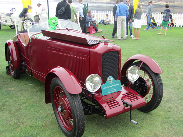 Only two or three of these French roadsters left in the world – the1930 Gar Type B5 from the Mullins collection.