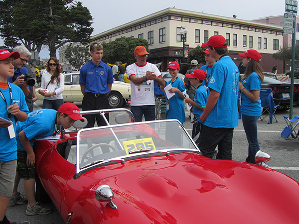 Owners are only too happy to chat with the Hagerty Youth Judges… and anyone else who's interested, at Pacific Grove.