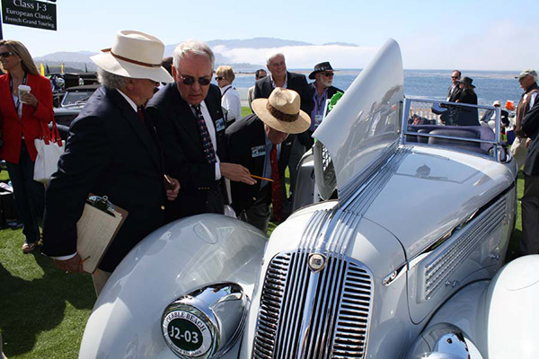 Restored to high standards and making its show debut, the 1936 Lancia Astura at Pebble Beach in 2012. Photo by Ruben Verdes