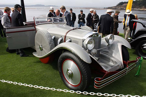 About to become, the Best of Show, the 1928 Mercedes-Benz 680S Saoutchik Torpedo. Photo by Ruben Verdes