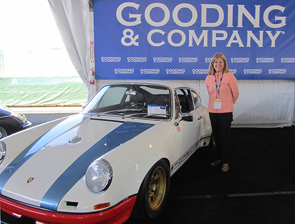 "I love this car! Estimated to go between $125-150,00, the 1972 Porsche 911 ""STR II"" design by Magnus Walker went for a surprising $302,500 at Gooding."