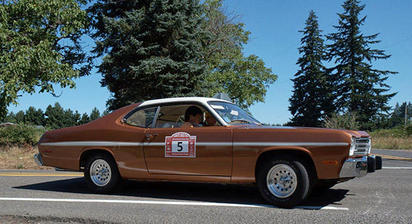 The Duster! NW Classics first American car rally winner.