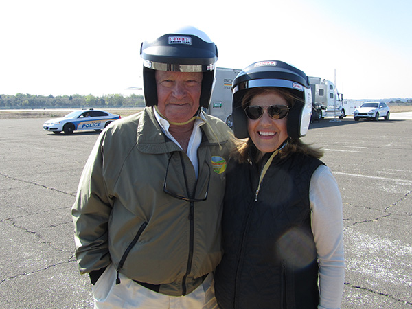 Chris and Sandy ready for their hot laps!