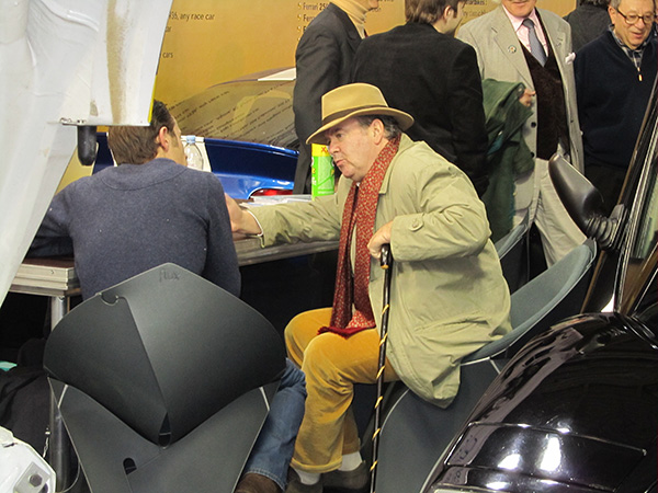 Everyone is working a deal during Retromobile.