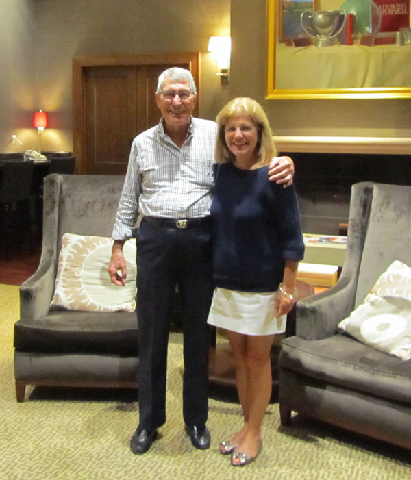 Vic Elford joins Sandy Cotterman for kickoff dinner to Northeast Porsche Club weekend Boston