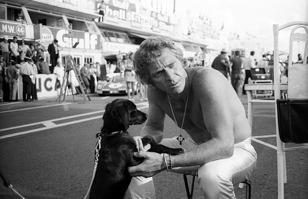 Steve McQueen and friend say hello