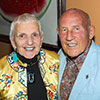 Denise McCluggage and Sir Stirling Moss, at her Concorso B-List Dinner